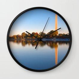 Golden Autumn Hour of Washington DC Wall Clock