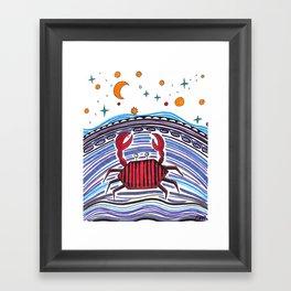 Crabby Crab Framed Art Print