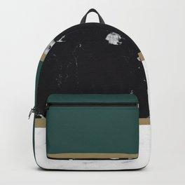 Marble Mix Stripes #4 #black #white #green #gold #decor #art #society6 Backpack
