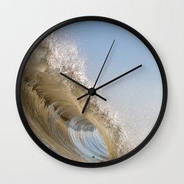 Golden Splash Wall Clock