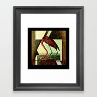 Flamingo Duet 1 Framed Art Print