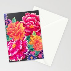 Oriental Peony Embroidery Stationery Cards