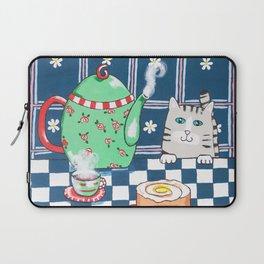 Kitty Cat Tea Time! Laptop Sleeve