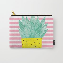 Succulent in Yellow Pot Carry-All Pouch