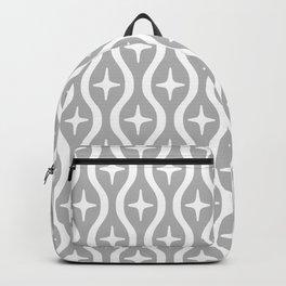 Mid century Modern Bulbous Star Pattern Gray Backpack