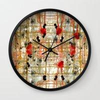 monster Wall Clocks featuring Monster by Tammy Kushnir