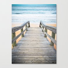 Florida Beach Walkway Canvas Print