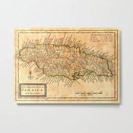 Vintage Map of Jamaica (1771) Metal Print