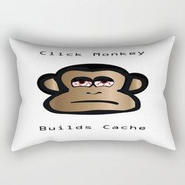 Click Monkey Builds Cache Rectangular Pillow