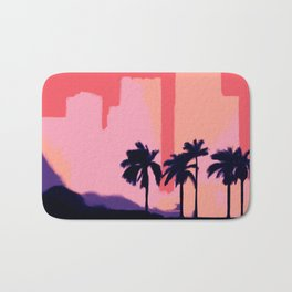 Sunset Time in Miami Bath Mat