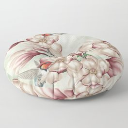 Magnolia Hummingbirds Floor Pillow