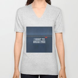 Denim Jeans - I Want To Break Free Unisex V-Neck