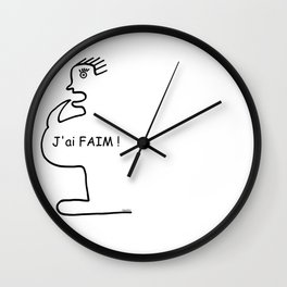 I'm hungry ! When hunger strikes you ... Wall Clock