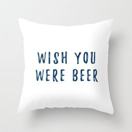 Beer for Here Throw Pillow