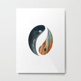 Yin Yang Abstract Metal Print