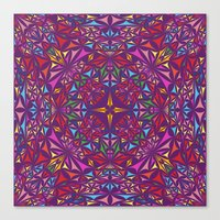 kaleidoscope Canvas Prints featuring Kaleidoscope by David Zydd
