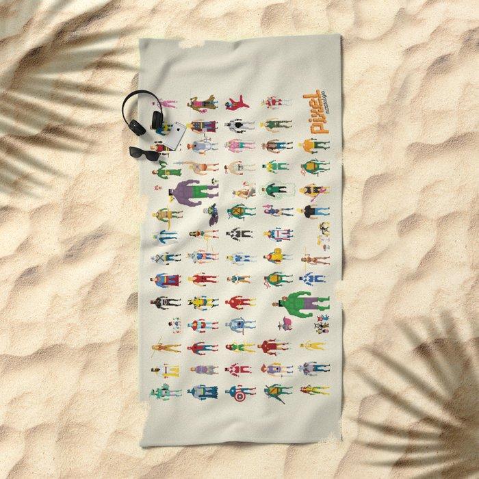 Pixel Nostalgia Beach Towel