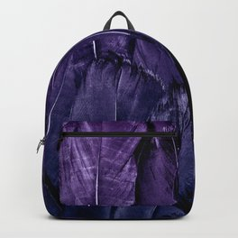 Blue Purple Feathers Backpack