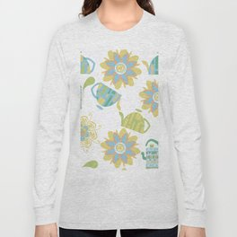 Tea pattern 3f Long Sleeve T-shirt
