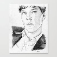 cumberbatch Canvas Prints featuring Benedict Cumberbatch by Alessia Pelonzi