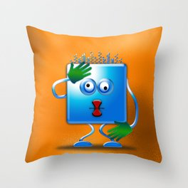 cubickly challenged Throw Pillow