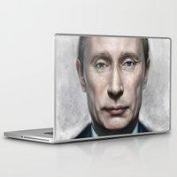 putin Laptop & iPad Skins featuring Vladimir Putin by Pavel Sokov