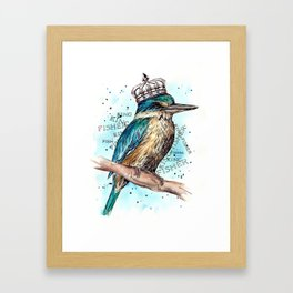KING-Fisher Framed Art Print