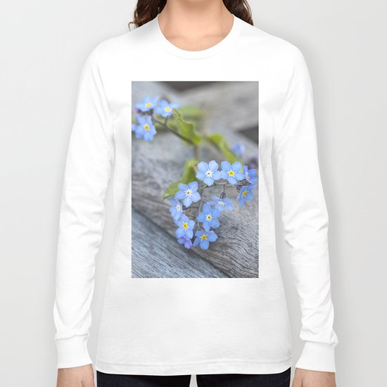 blue flower Fortget Me Not Long Sleeve T-shirt