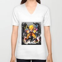 goku V-neck T-shirts featuring Goku by ururuty