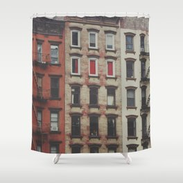 New York Apartments Shower Curtain