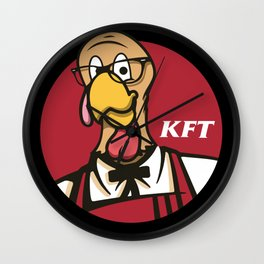 Thanksgiving Deep Fried Turkey Wall Clock