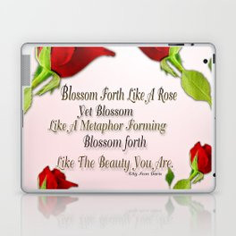Red, Rose And pink With Quote Laptop & iPad Skin