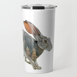Hare Double Exposure Travel Mug