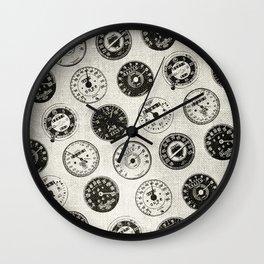 Vintage Motorcycle Speedometers Wall Clock