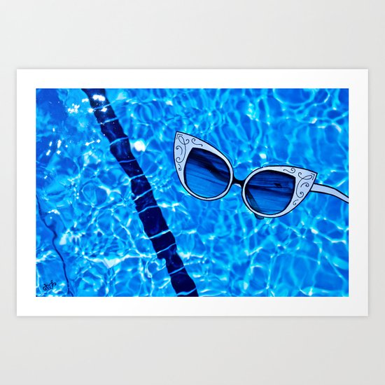Paper Sunglasses Art Print