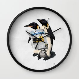 Read All Over (Wordless) Wall Clock