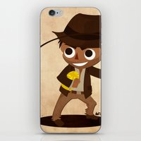 indiana jones iPhone & iPod Skins featuring Indiana Jones by Delucienne Maekerr