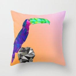 Geo Toucan Sunset Throw Pillow