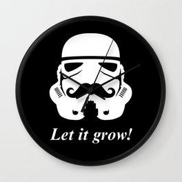 Bearded trooper Wall Clock
