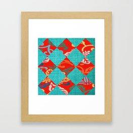 Orange & Turquoise Tropical Bliss Framed Art Print
