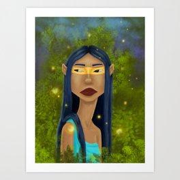 Tribal Elf Art Print