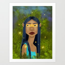 Tribal Elf Art Print