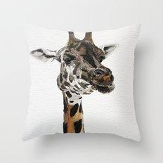 Giraffa camelopardalis Throw Pillow