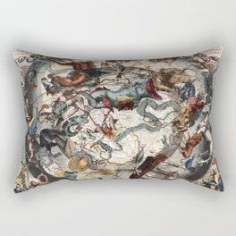 Keller's Harmonia Macrocosmica - Scenography of the Southern Celestial Hemisphere 1661 Rectangular Pillow