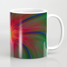Green Eyed Swirl on Red Mug