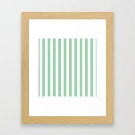 Mint Green Small Even Stripes Framed Art Print