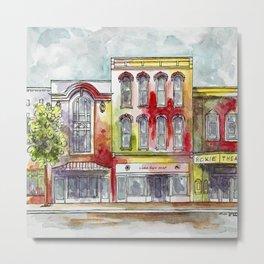 Red southwestern cityscape I Metal Print
