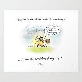 "Yogi Firefly- ""Sunshine"" Art Print"