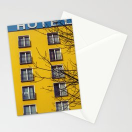 Hotel and yellow Stationery Cards