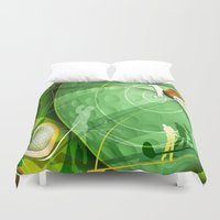 golf Duvet Covers featuring Golf Anyone? by Robin Curtiss